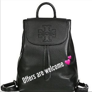 Tory Burch pebbled leather backpack